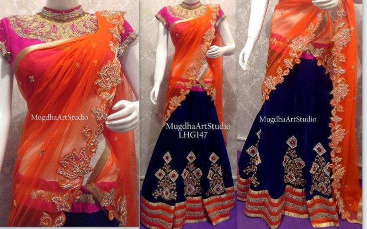 Chic Half Saree by Shashi Vangapalli