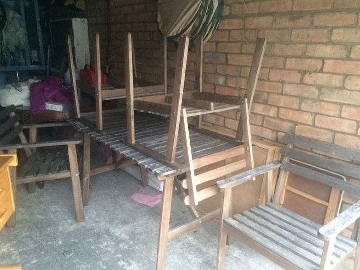 Wooden furniture set for garden/ garden furniture on Gumtree. For quick sale wooden garden furniture set, 4 chairs and the table All in good condition Collection