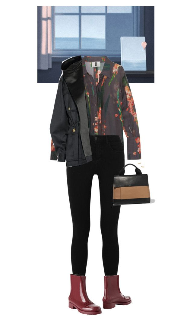 """Outfit of the Day"" by wizmurphy ❤ liked on Polyvore featuring Topshop Unique, L'Agence, N°21, Marni, Gorjana, Balmain, ootd and rainyday"