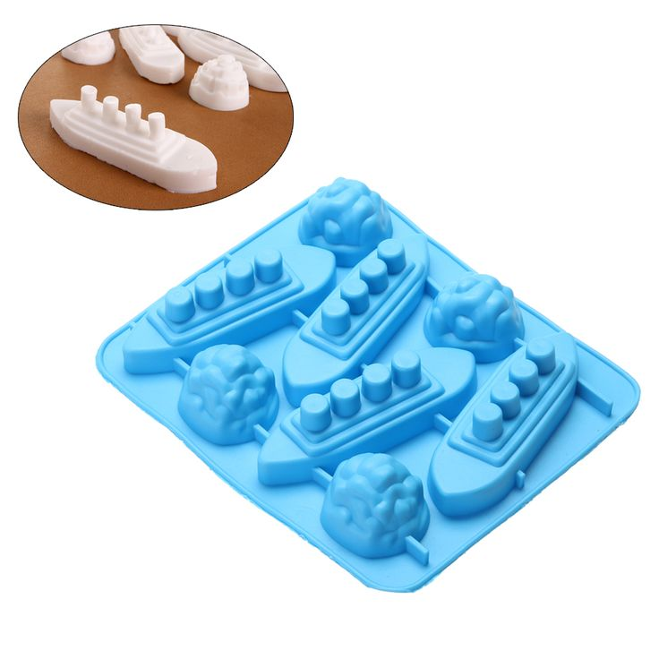 Silicone DIY Titanic Shaped Ice Cube Trays Carving Mold Mould Maker For Party Drinks for DIY Ice/ Pudding/Chocolate