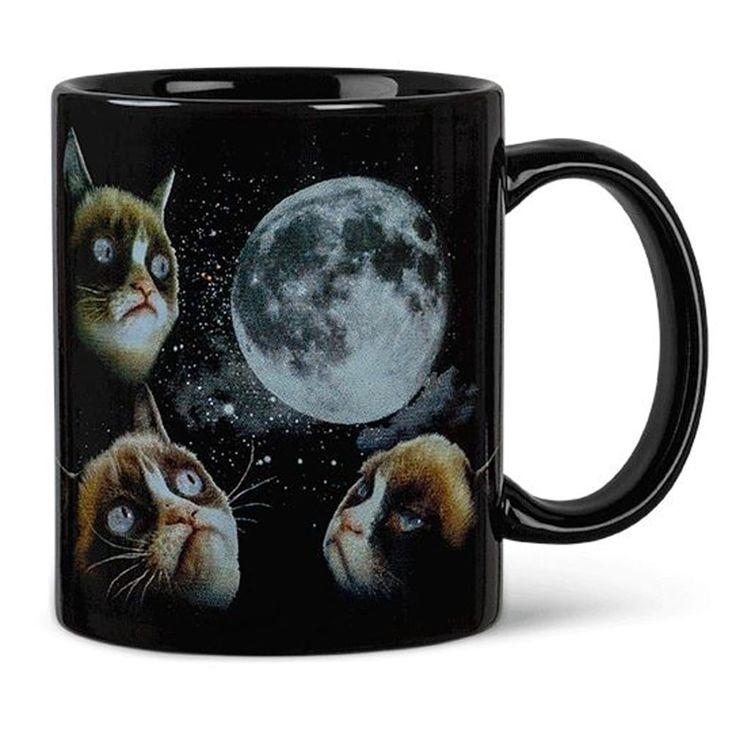 Grumpy Cat Moon Heat Sensitive Color Changing Coffee (Brown) Mug
