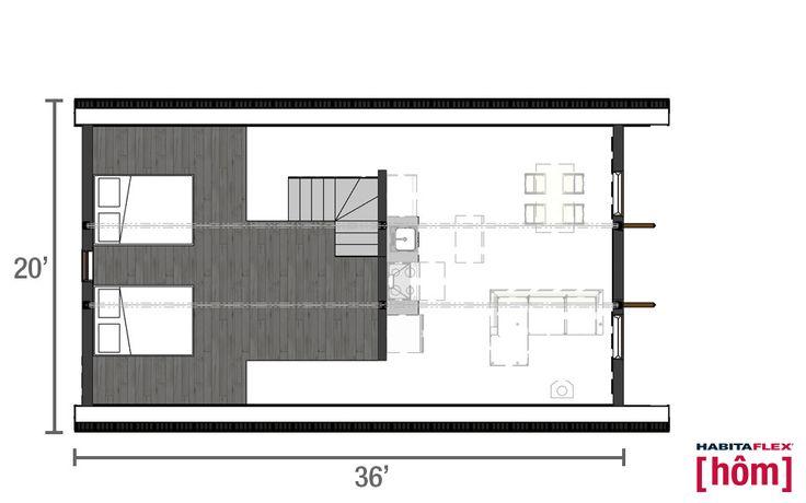 Habitaflex [hôm] plan Mezzanine© Habitaflex Concept inc., 2015. Tous droits réservés. www.habitaflex.com
