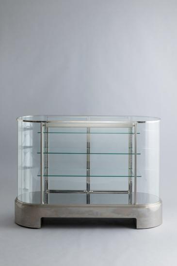 STEAM TRAIN ART DECO GLASS SHOWCASE