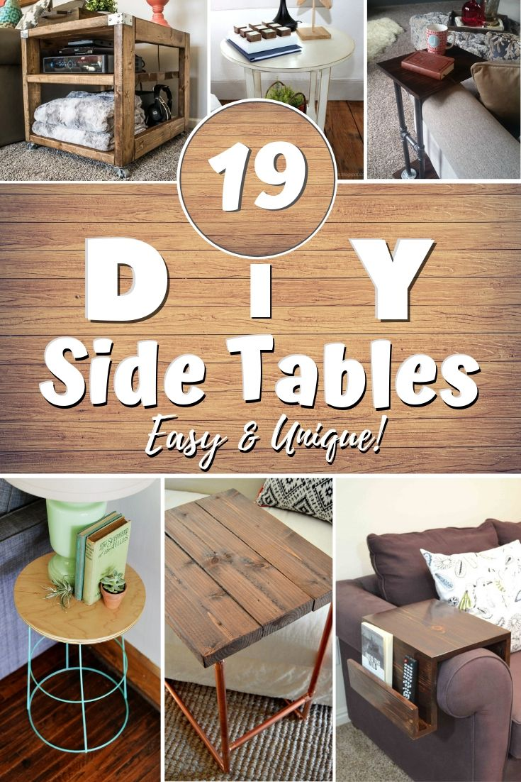 19 Easy Unique Diy Side Table Ideas You Can Build On A Bu
