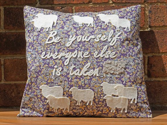 Oscar Wilde Ispirational Quote Decorative by WhileLokiDreams, £30.00