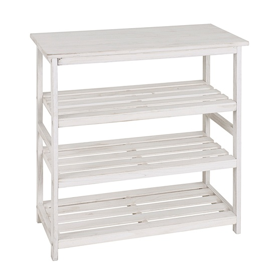 Tanja White 3 Tier Shoe Rack, 26317