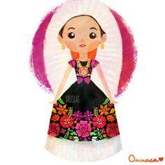 México colores y diseños de sus trajes típicos Oaxaca