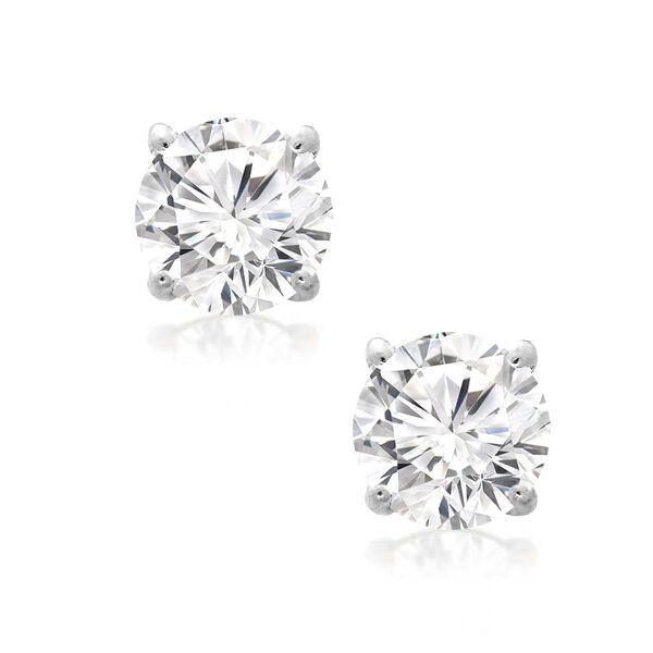 Details About Diamond Stud Earring 1 4 Ct 14k White Gold In 2020 Diamond Earrings Studs Diamond Studs Diamond Earrings Studs Round