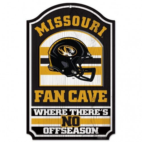 Missouri Tigers Wood Sign - 11x17 Fan Cave Design (backorder)