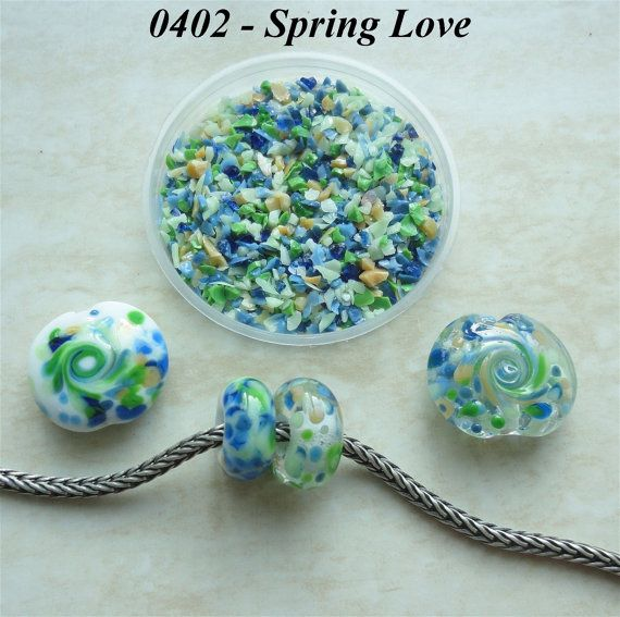0402 Spring Love  Glass Frit Blend  K1  COE by BeadTreasures4You
