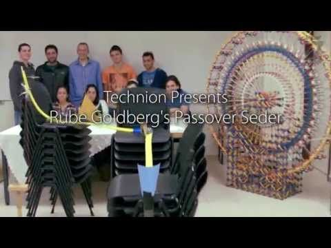 Passover Pesach 2015 Seder Rube Goldberg Machine from Technion in Israel - YouTube