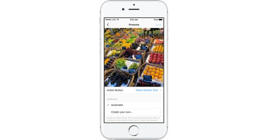 Businesses will be able to promote their Instagram accounts to targeted audiences.