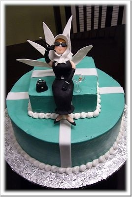 Audrey Hepburn Breakfast at Tiffany's Cake by CakeCentral.com