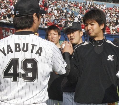 Yasuhiko Yabuta and Yuki Karakawa (Chiba Lotte Marines)