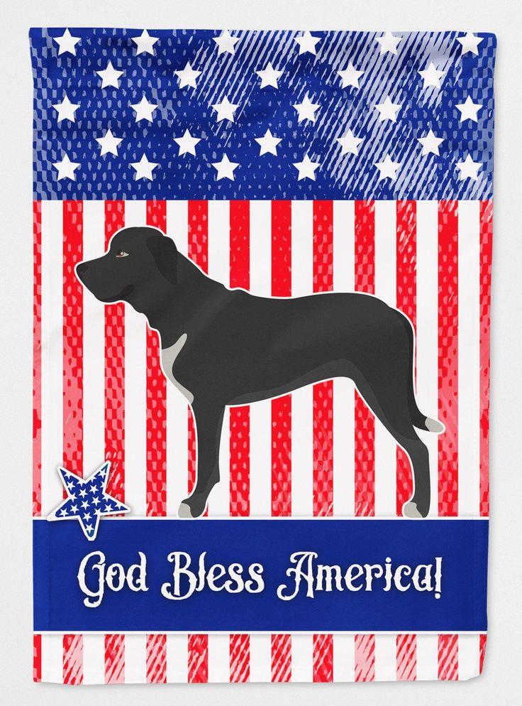 Broholmer Danish Mastiff American Flag Garden Size BB8409GF