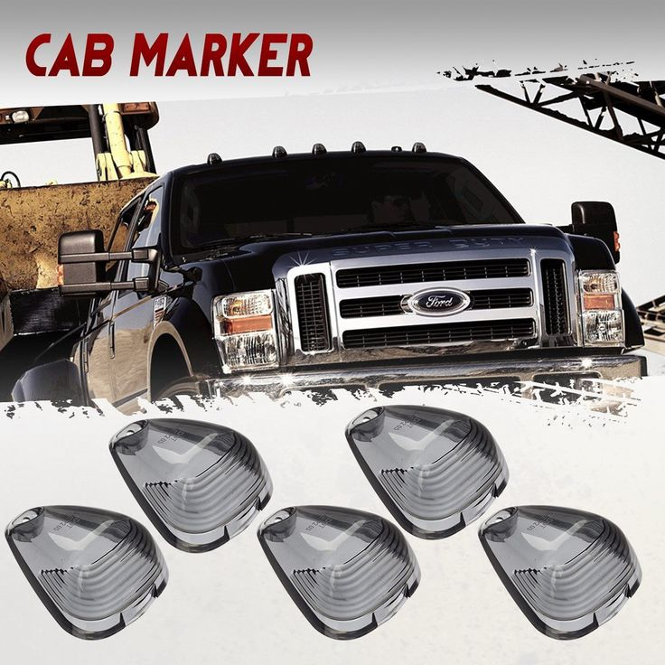 Partsam 5x Smoke Cab Marker Clearance Light Lens Covers