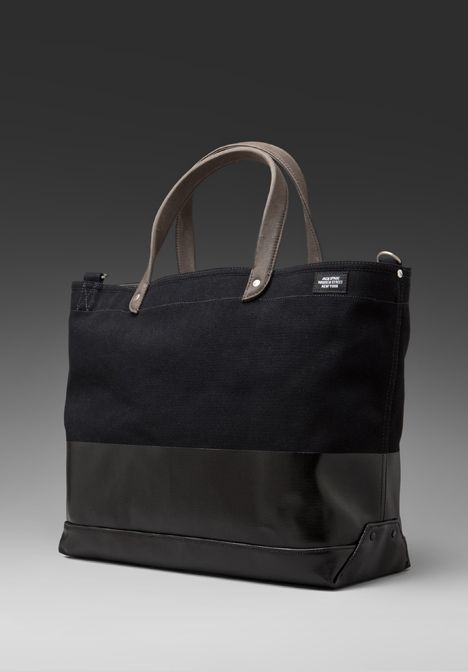 Jack Spade's Dipped Coal Bag in Black/Black