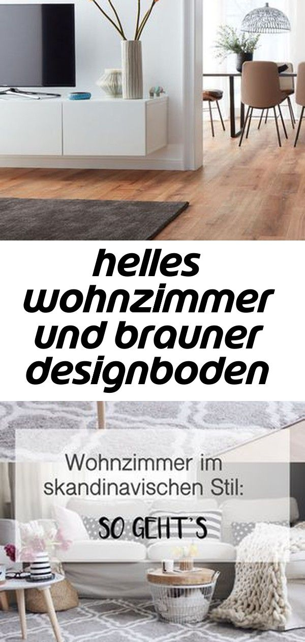 Helles Wohnzimmer Und Brauner Designboden Abgerundet Mit Dunklem Teppich Vinylboden Modern Livingroom Anzeige Wohnzimmer Im Skan
