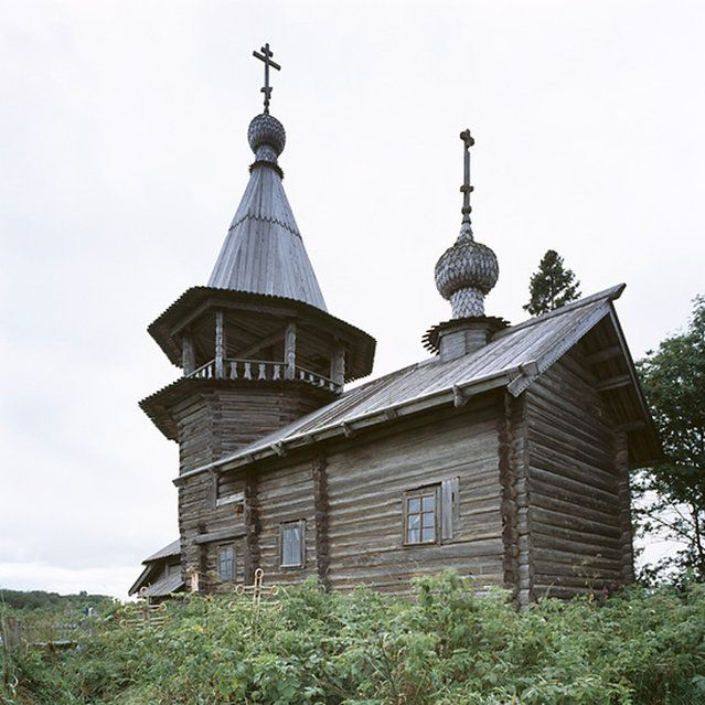 Ust'Yandoma, Karelia region, Chapel of St George (17 - 18th C) Wooden Churches - Travelling In The Russian North By Richard Davies Part 1