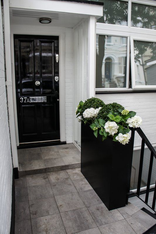 Tall Narrow Planter Box By The Front Door Gives Space To The Small  Verandah. Loving The Colour Scheme. Very Dramatic And Romantic