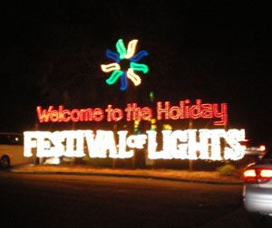 James Island  County Park, one of the largest and prettiest Christmas light displays I ever saw