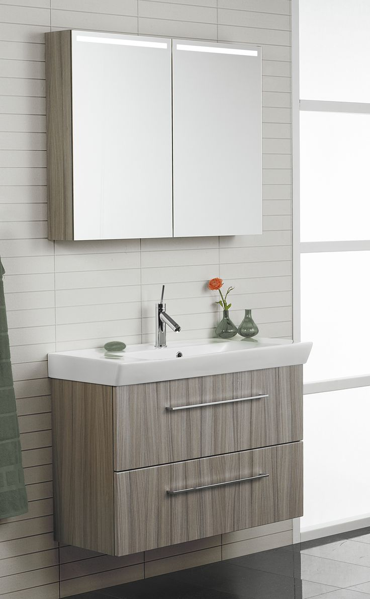 The slim depth & extra height of the washbasin creates extra storage opportunities in smaller bathrooms.