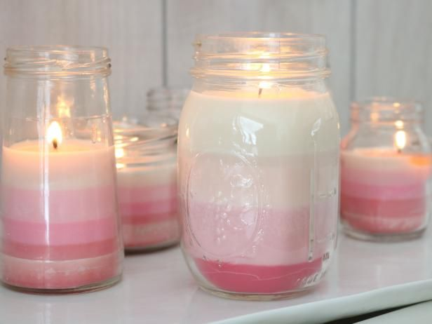 DIY Network blogger Emily Fazio shows you how to make ombre candles for Valentine's Day. Modify the colors of the dye, and make easy decor for any number of parties, weddings, and events!