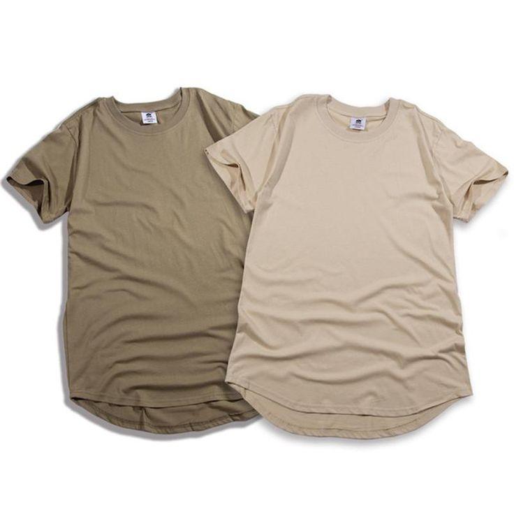 fashion solid Arc cut short Eur size hip hop tshirts men pure color  men clothes mens hip hop clothing streetwear