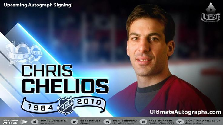 We at Ultimate Autographs are proud to announce that we will be doing a signing with one of the greatest hockey players of all time, Chris Chelios. We are offering various different products that you can purchase to be signed by him. ***The price of JSA authentication is built into each cost.*** If you are interested in purchasing an item to be signed and that item is not listed in the drop down menu please send an email to accounts@ultimateautographs.com.