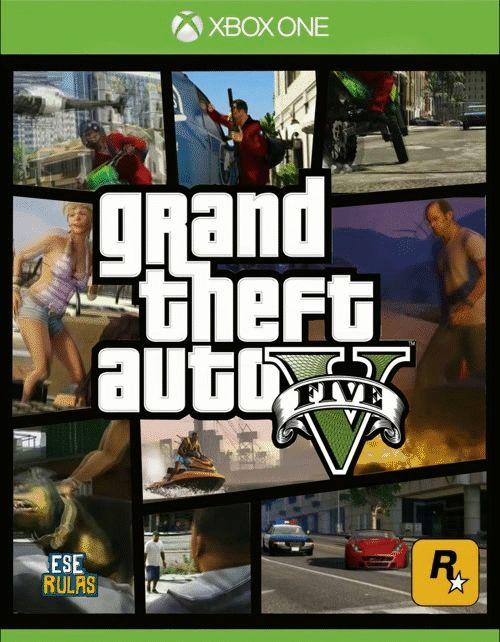 GTA V XBOX ONE COVER GIF