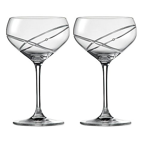 """Royal Doulton Promises """"With This Ring"""" Champagne Saucers (Set of 2)"""