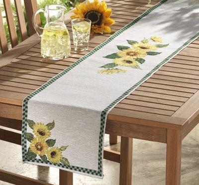 Sunflower Tapestry Table Runner