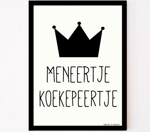 12 gave posters voor op de baby- en kinderkamer. Deze is afkomstig van Koetjes & Kaartjes | Meneertje Koekepeertje | gomommygo.nl