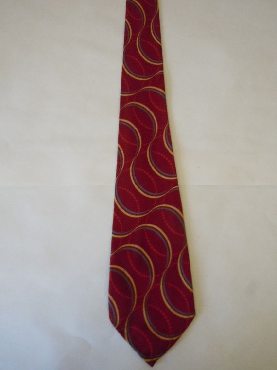 Deadstock Unworn 1920 Wool Geometric Tie