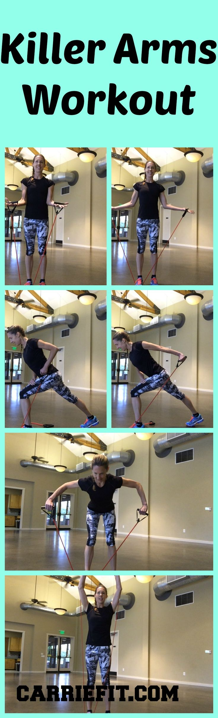 Killer Arms workout with a strength band. Click the image for details
