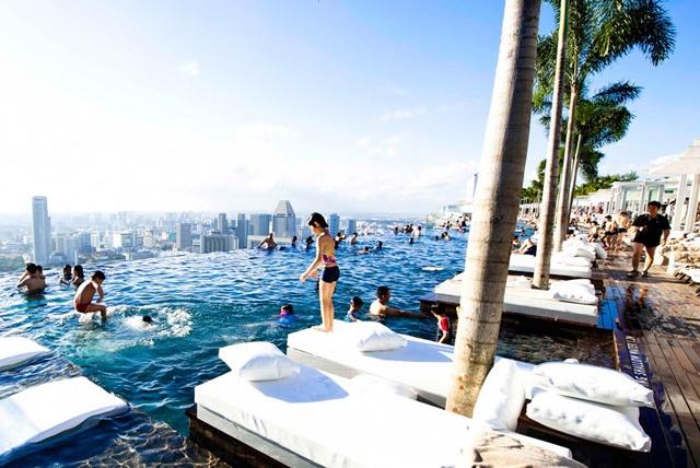 Marina Bay Sands Hotel, SingaporeResorts Hotels, Swimming Pools, Buckets Lists, Hotels Pools, Cities Skyline, Places, Marina Bays Sands, Sands Hotels, Infinity Pools