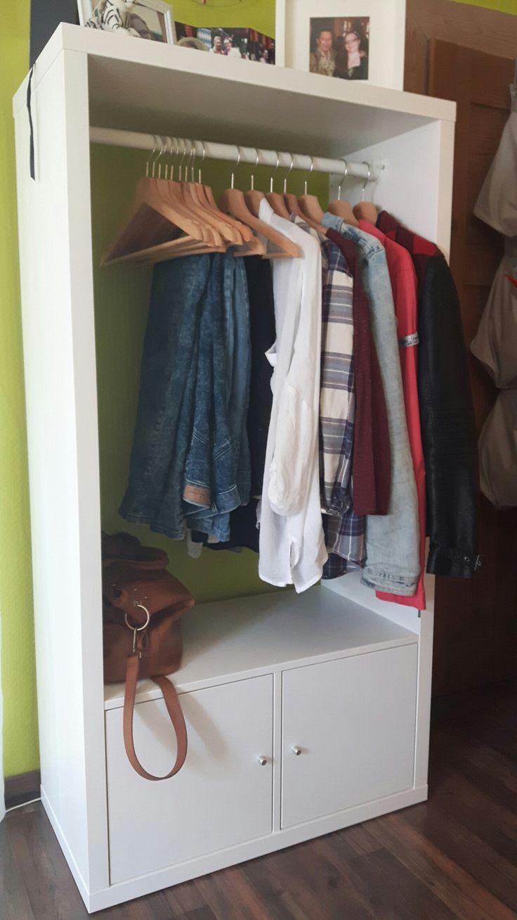 Aus einem Kallax wird eine Garderobe. #DIY #Kallax #IKEA #Garderobe