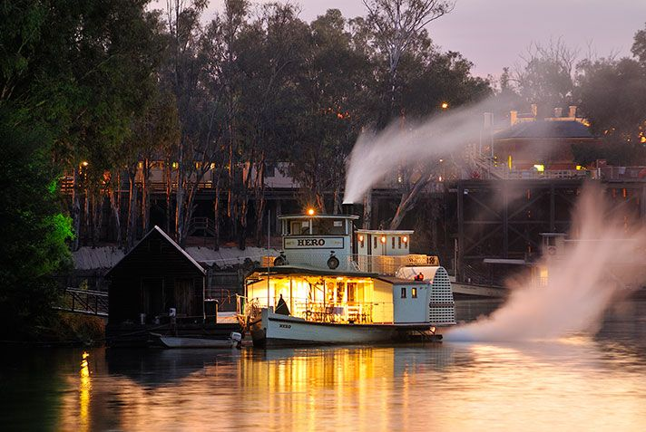 Favorite paddlesteamer shot with the wharf in the back ground.  Breathtaking!