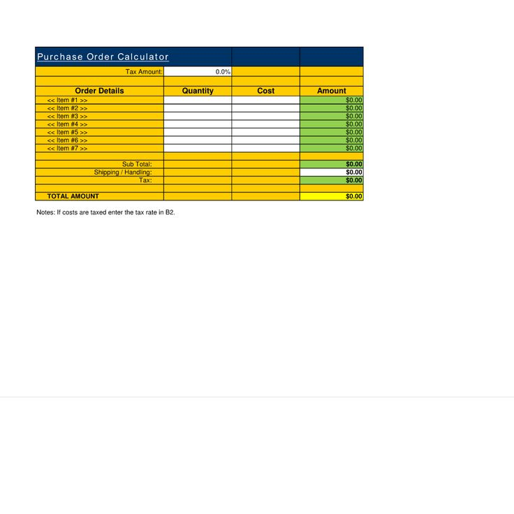 76 best Financial Estimate Spreadsheet Templates images on - generic purchase order