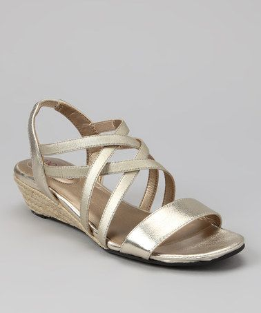 This Platinum Metallic Sevita Sandal by Me Too is perfect! #zulilyfinds