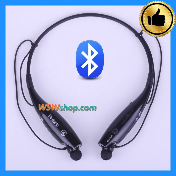 2016 Brand New Neckband Bluetooth Wireless Headset Cordless Headphone In-Ear Earphones For Iphone Samsung - Black Color