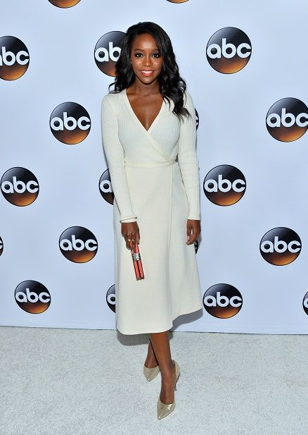 Actress Aja Naomi King (How to Get Away With Murder) attending the ABC TCA 'Winter Press Tour 2015' Red Carpet on January 14, 2015 in Pasadena, California. © Amanda Edwards/WireImage