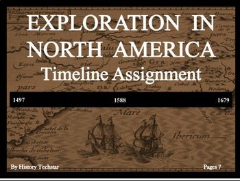 This timeline activity gives students the opportunity to create their own timelines and determine where events fall relative to each other. This activity is perfect for interactive notebooks and does not require any handouts or copies. The events included in this assignment are: Cabot's explores North America, Cartier's exploration of the St.