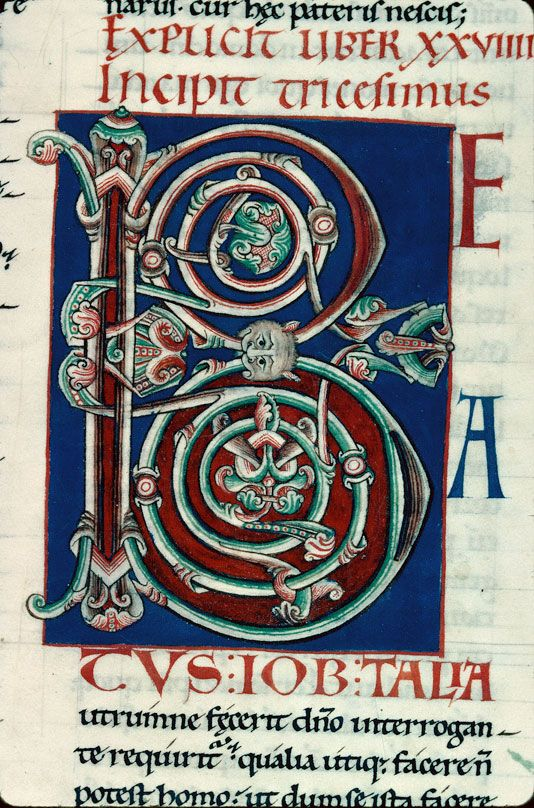 Bibliothèque municipale de Chalon-sur-Saône Moralia in Job, ms 0009, f 087 « cliché CNRS - IRHT »