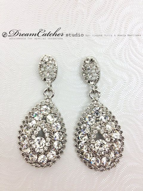 Renata Earrings Wedding Jewelry Bridal by DreamcatcherStudio, $42.00