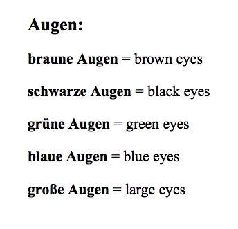 Aussehen: Augen