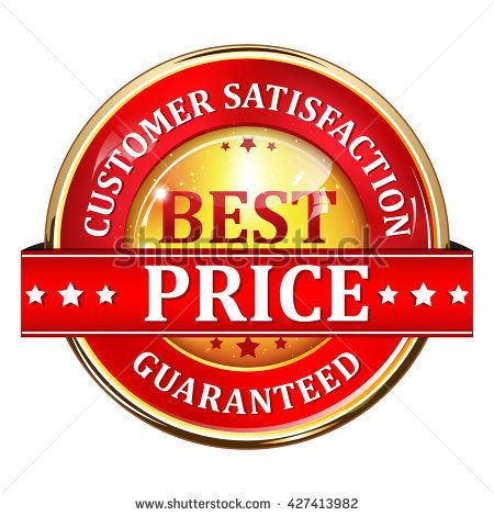 Best Price. Customer Satisfaction guaranteed - elegant shiny label / button