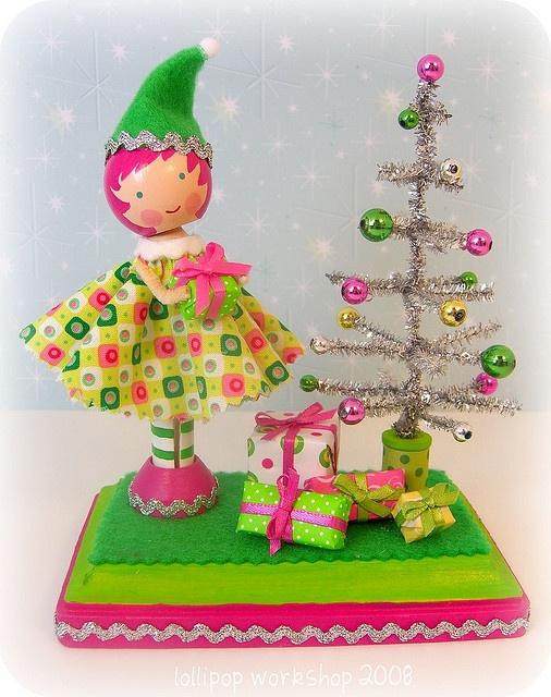 Christmas Peg Doll