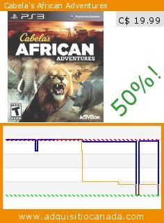 Cabela's African Adventures (Video Game). Drop 50%! Current price C$ 19.99, the previous price was C$ 39.60. http://www.adquisitiocanada.com/activision-blizzard/cabelas-african-safari