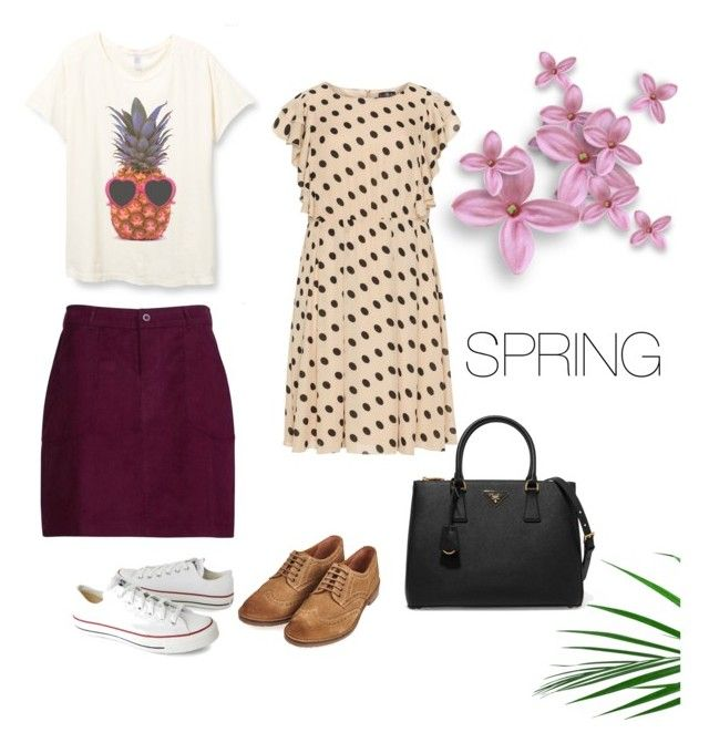 """""""Spring Dress Up"""" by cheryl-eisenschmid on Polyvore featuring Converse, Lovedrobe, Barbour and Prada"""